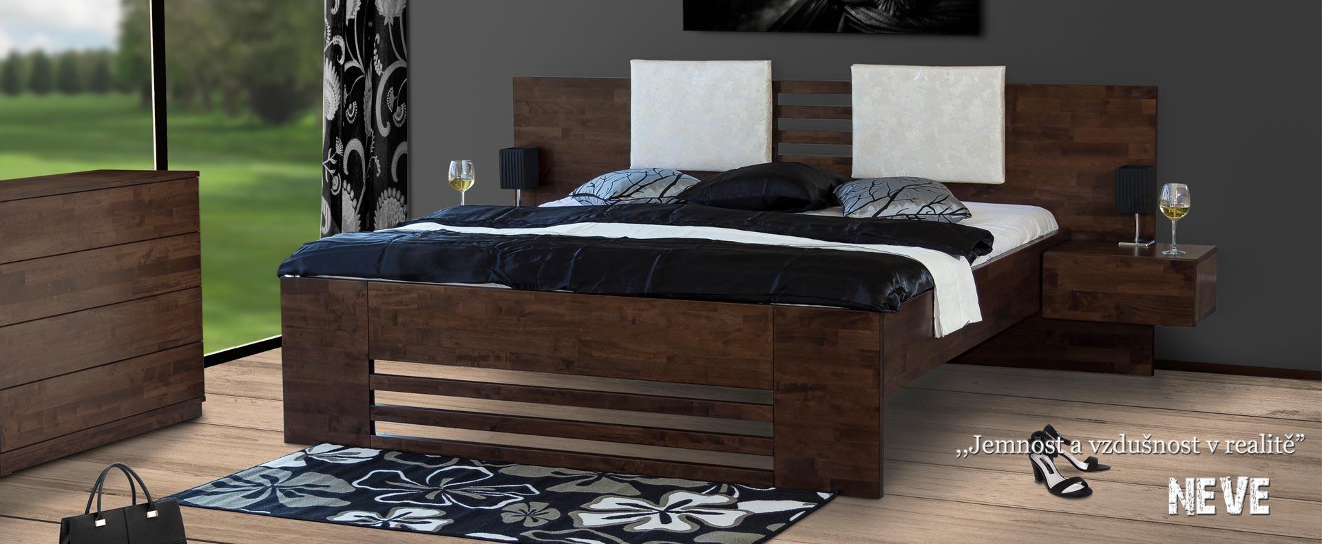 Postel NEVE s vyšší lehací plochou nabídne příjemné vstávání.