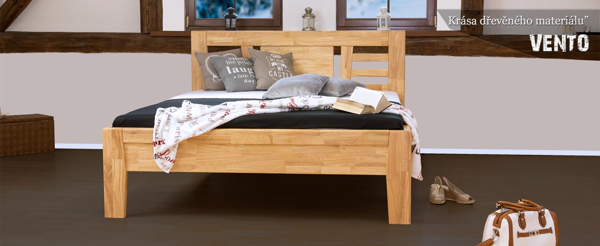 postele z masivu model VENTO