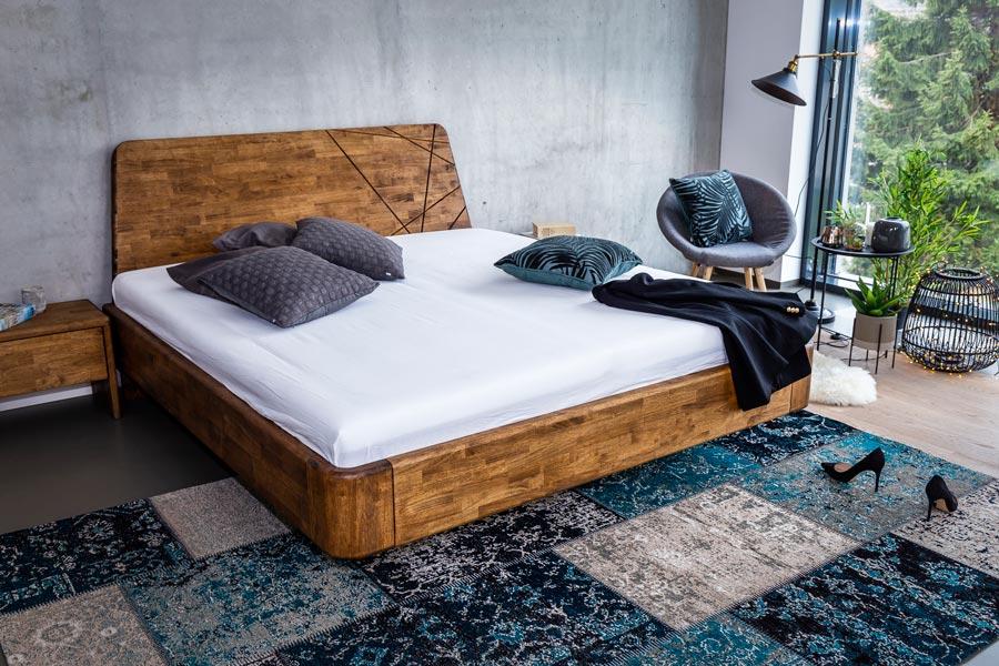 Masivní postel NOE je další novinkovou postelí pro rok 2019.