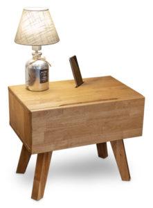 Dřevěný dubový noční stolek JESSIE